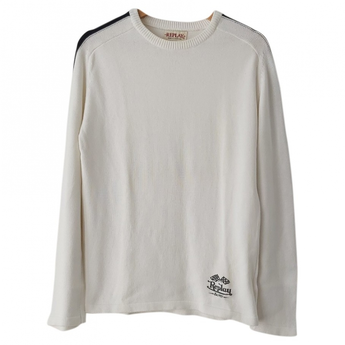 Replay \N Pullover.Westen.Sweatshirts  in  Weiss Baumwolle