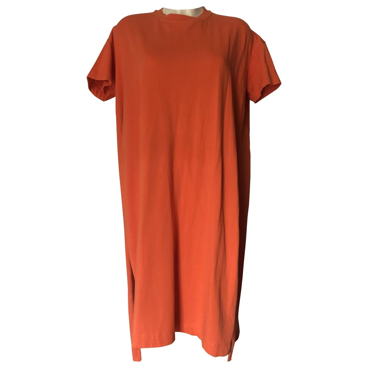 Acne Studios \N Kleid in  Orange Baumwolle