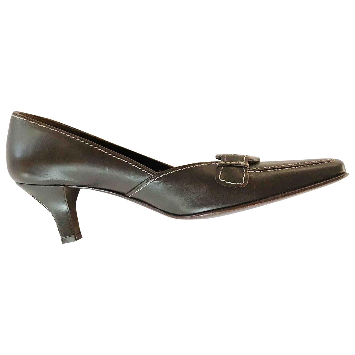 Salvatore Ferragamo \N Brown Leather Heels for Women 8 US