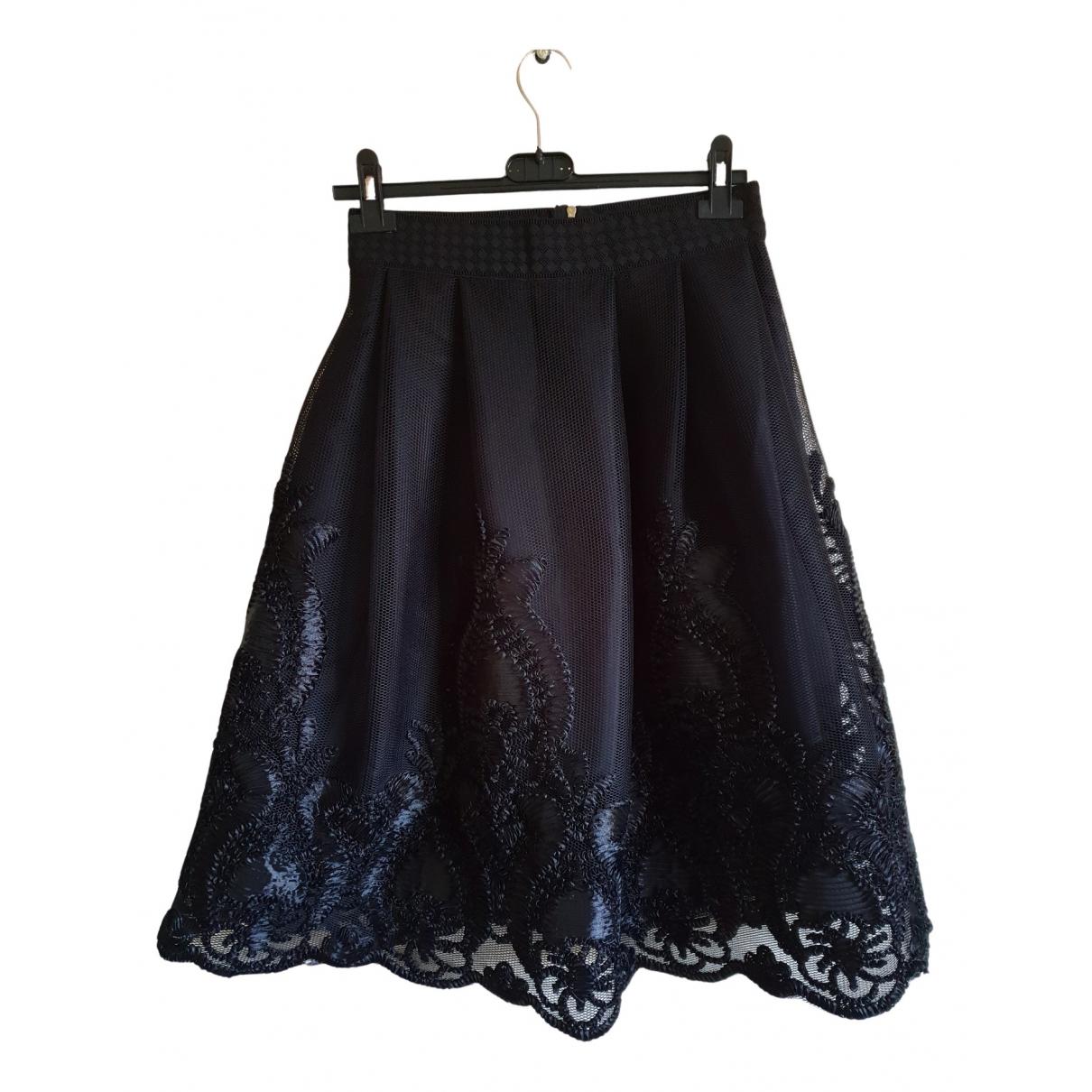 Non Signé / Unsigned N Black skirt for Women 38 FR