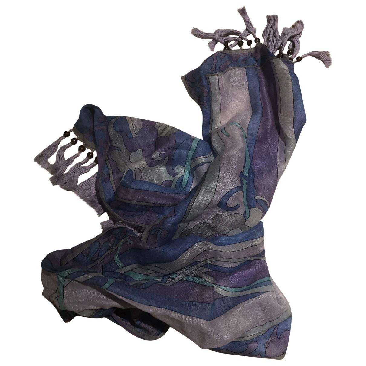 Emilio Pucci - Foulard   pour femme en soie - bleu