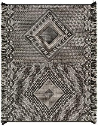 ZNF2303-576 5 x 7 6 Rug  in Black and