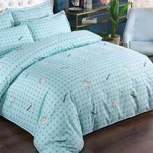 Set de cama con estampado de corona sin relleno