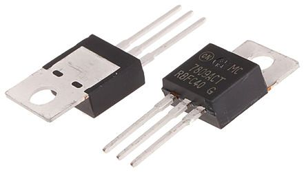 ON Semiconductor , 9 V Linear Voltage Regulator, 2.2A, 1-Channel 3-Pin, TO-220 MC7809ACTG (50)