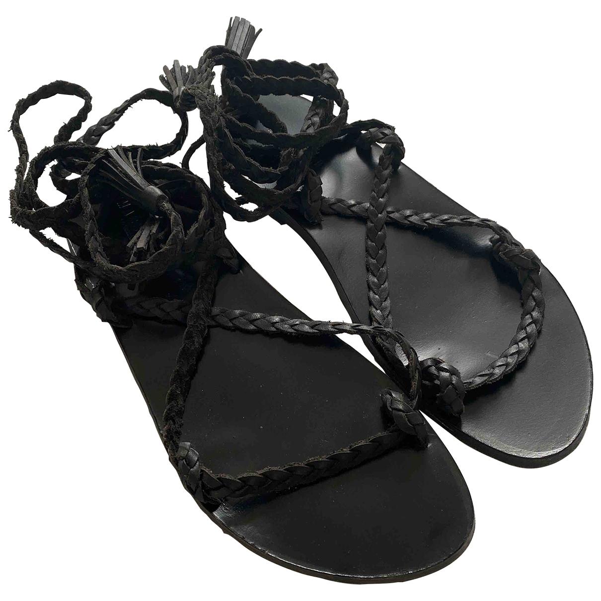 Masscob \N Sandalen in  Schwarz Leder