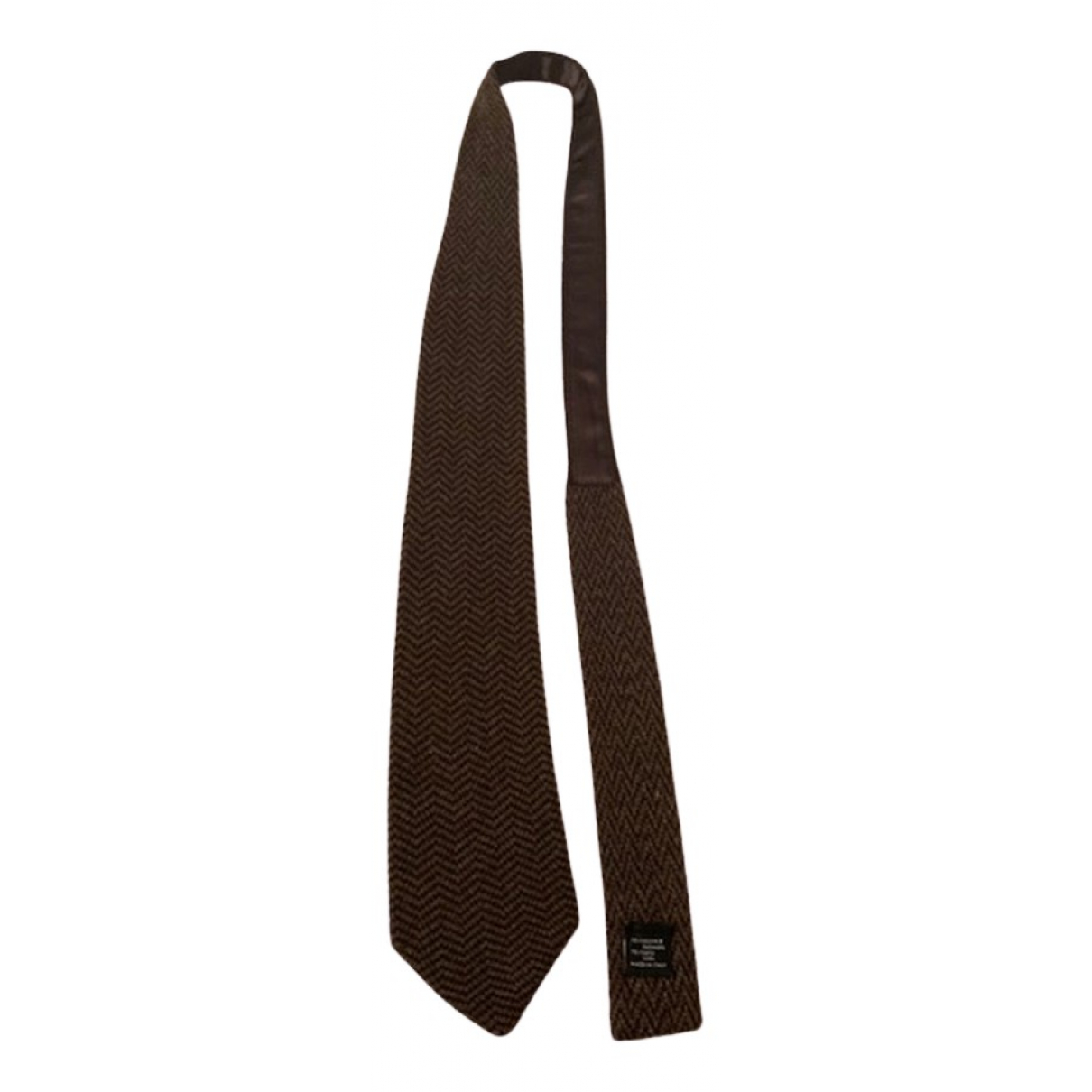 Emporio Armani N Brown Wool Ties for Men N