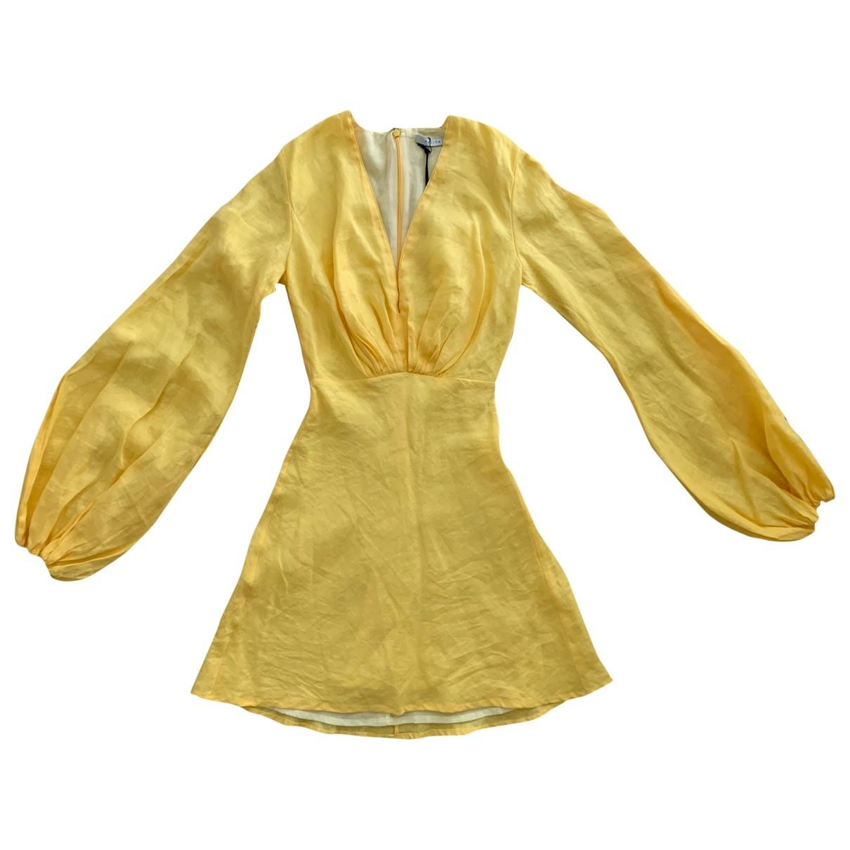 Kalita \N Kleid in  Gelb Leinen