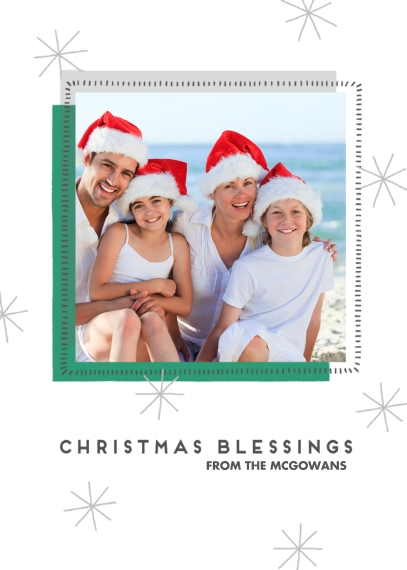 Religious Christmas Cards Flat Glossy Photo Paper Cards with Envelopes, 5x7, Card & Stationery -Christmas Blessings