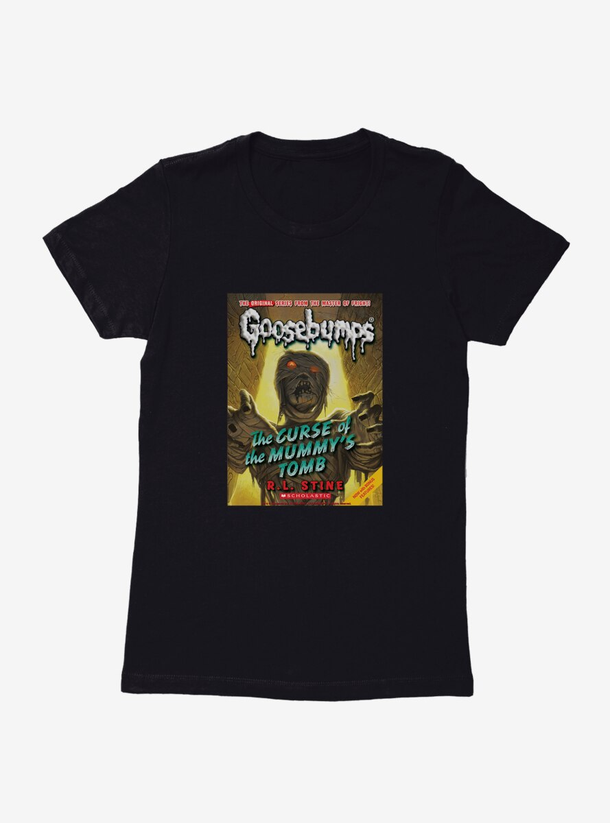Goosebumps The Curse Of The Mummy's Tomb Book Womens T-Shirt