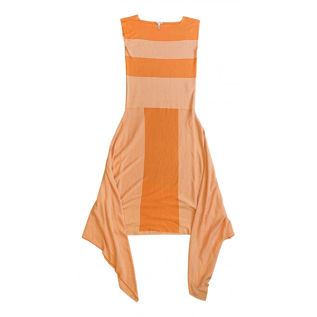 Loewe \N Kleid in  Orange Seide
