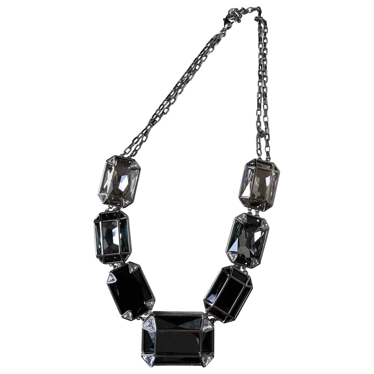 Swarovski \N Kette in  Grau Kristall