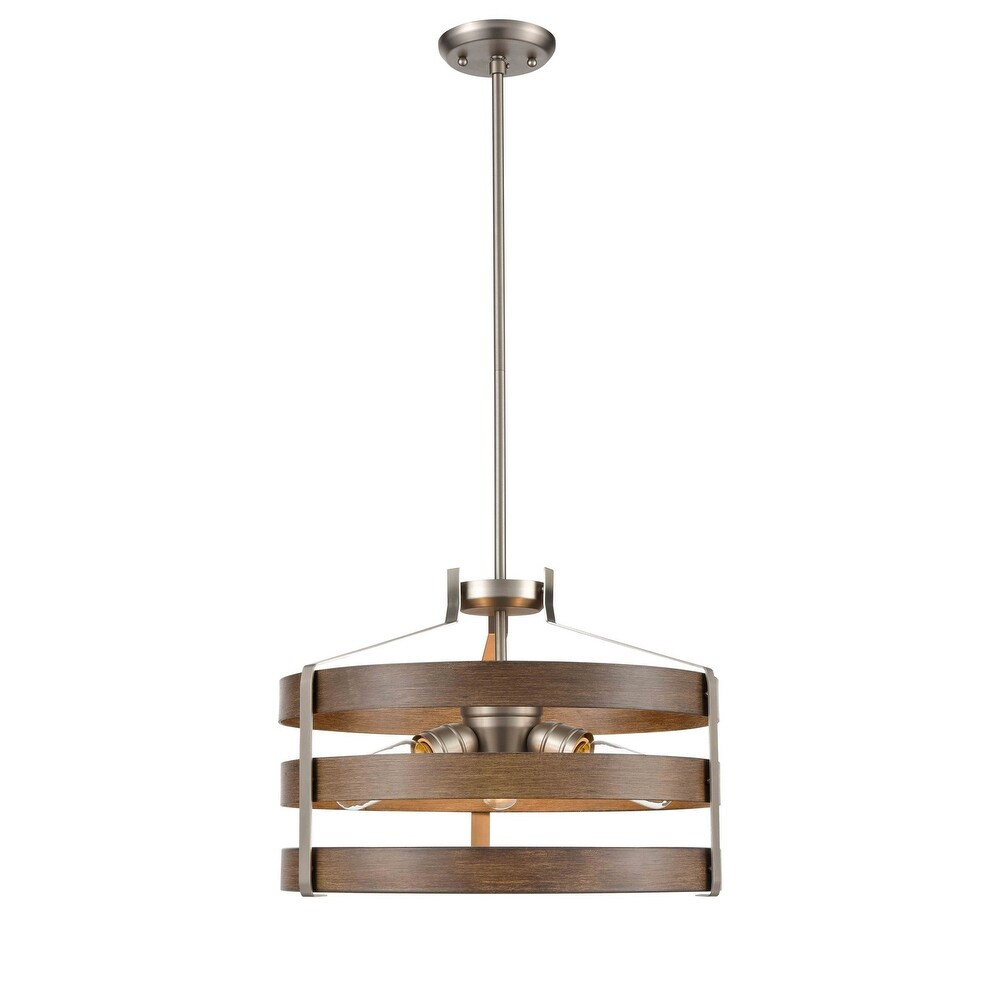 DVI  DVP41820BN BAW Three  Pendant Fort Garry Buffed NickelBarnwood O - One Size (One Size - Clear)