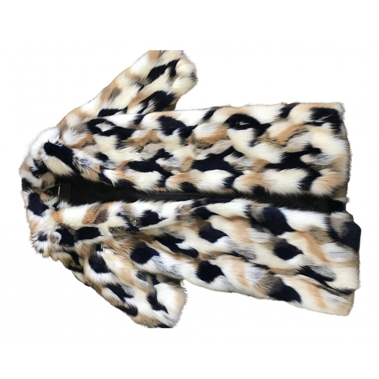 Givenchy - Manteau   pour femme en fourrure synthetique - multicolore