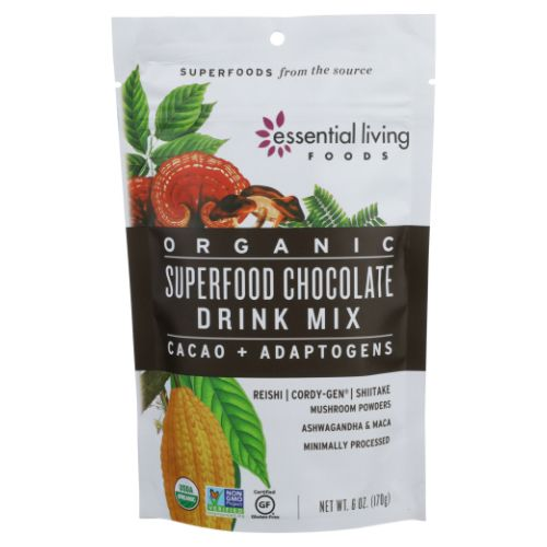 Superfood Drink Mix Chocolate 6 Oz by Essential Living