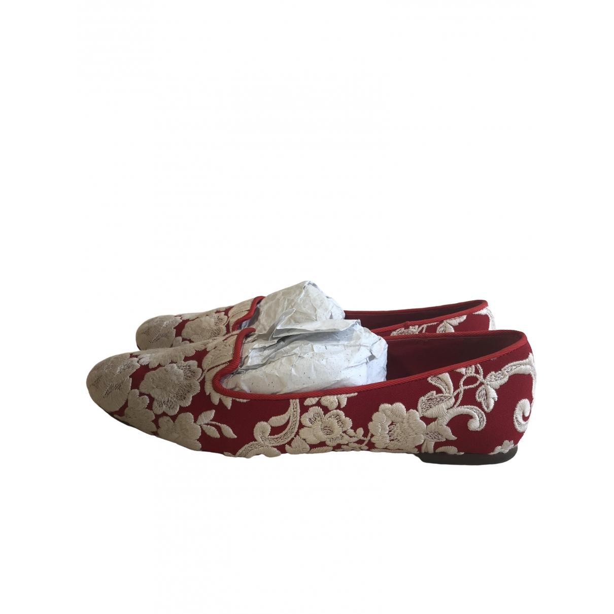 Dolce & Gabbana - Mocassins   pour femme en toile - rouge