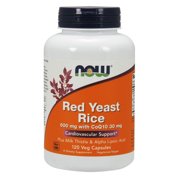 RED YEAST RICE & COQ10 FORMULA 120 Vcaps by Now Foods