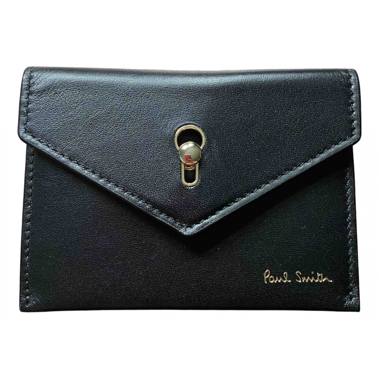 Paul Smith \N Black Leather Small bag, wallet & cases for Men \N