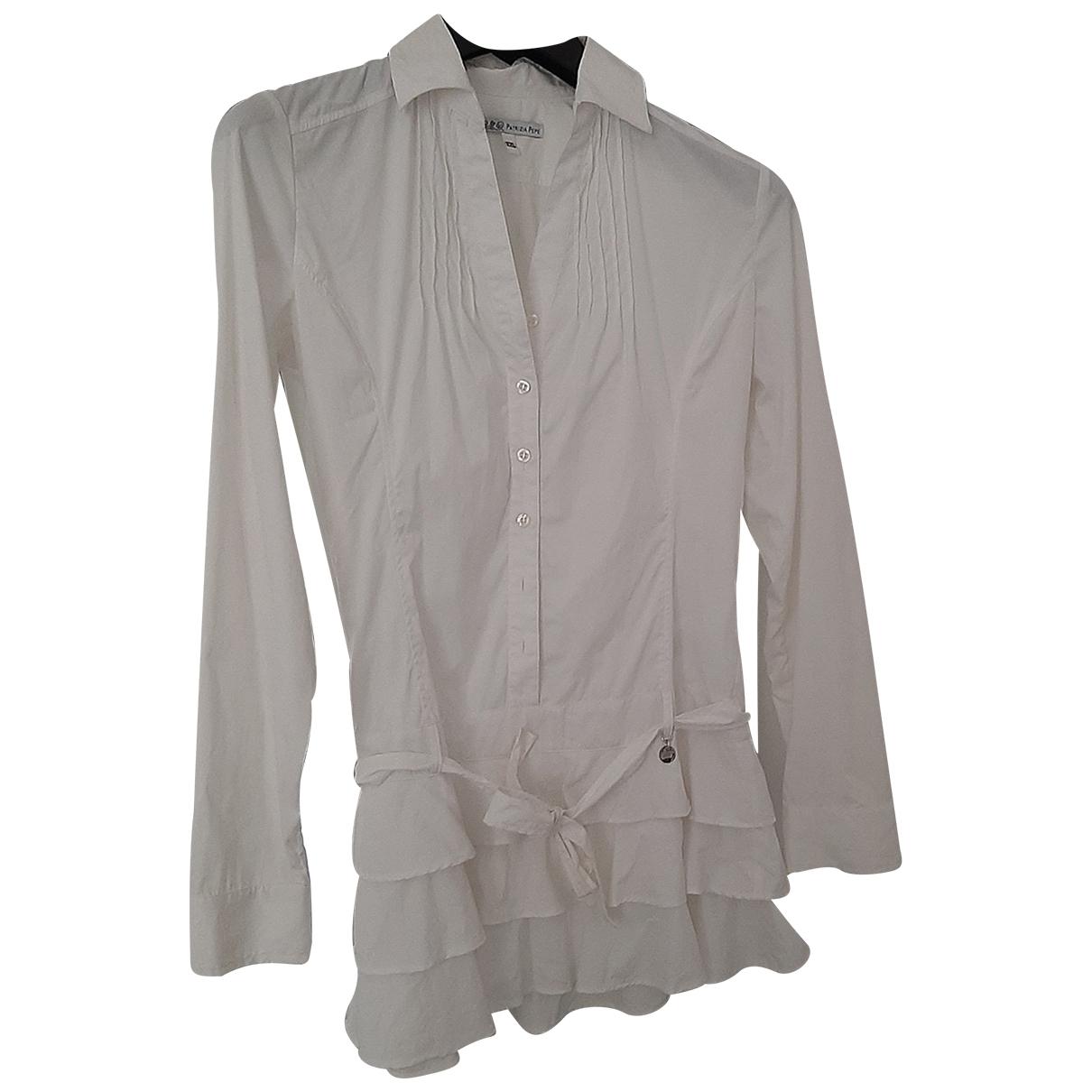 Patrizia Pepe - Robe    pour enfant en coton - elasthane - blanc