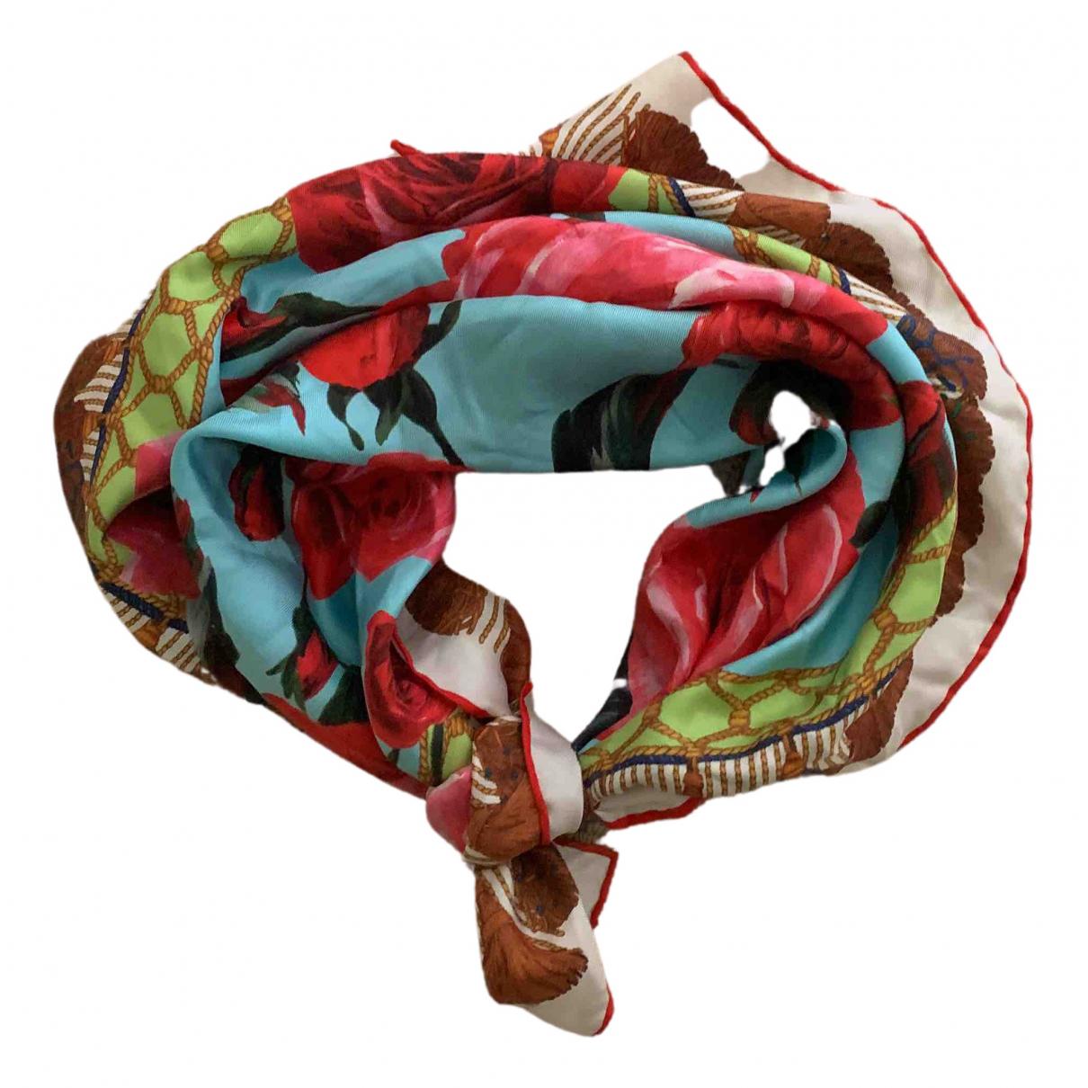 Dolce & Gabbana - Foulard   pour femme en soie - turquoise