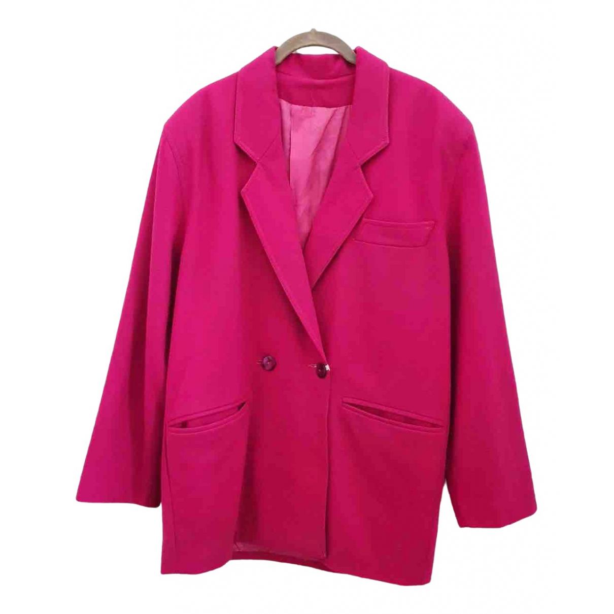 Non Signé / Unsigned \N Purple Wool coat for Women 46 IT