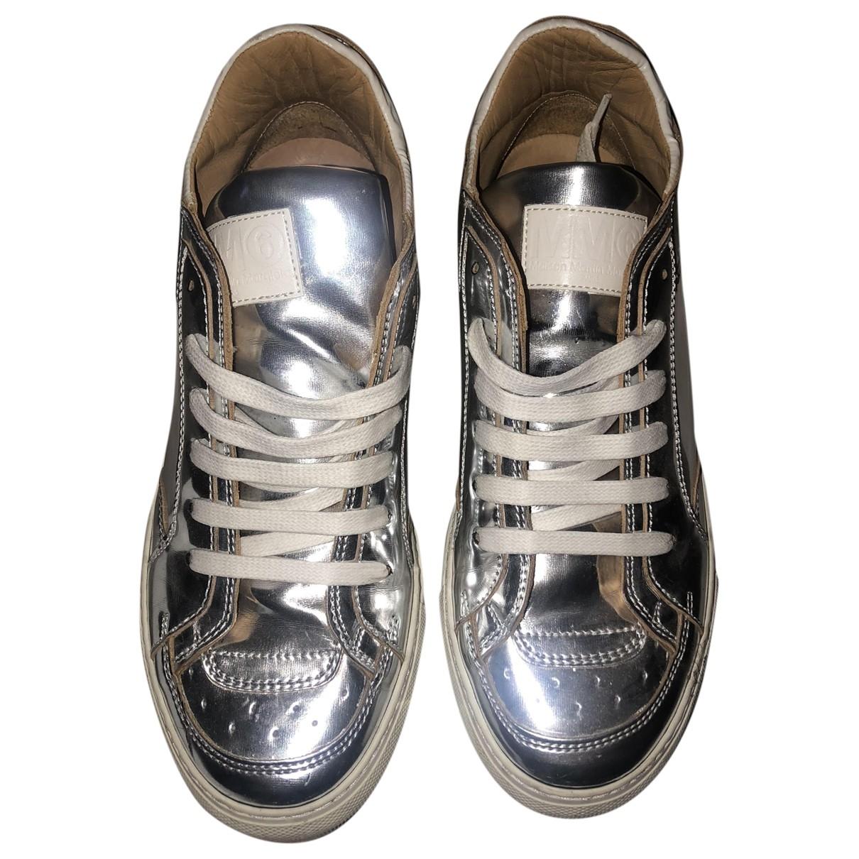 Mm6 \N Sneakers in  Silber Leder