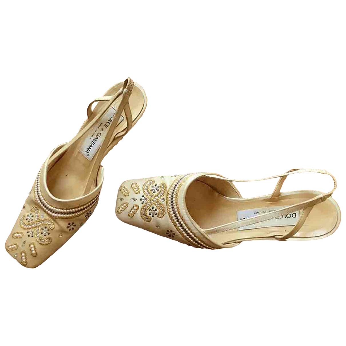 Dolce & Gabbana - Sandales   pour femme en toile - beige