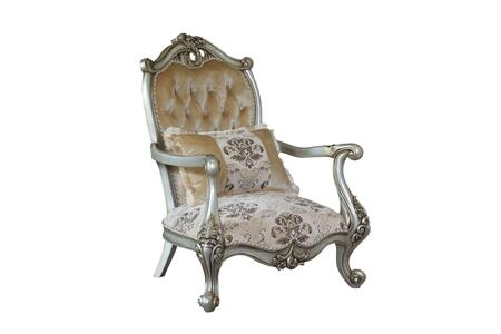 Valeria Collection Luxury Accent Chair  Hand Carved and Handcrafted  in Antique