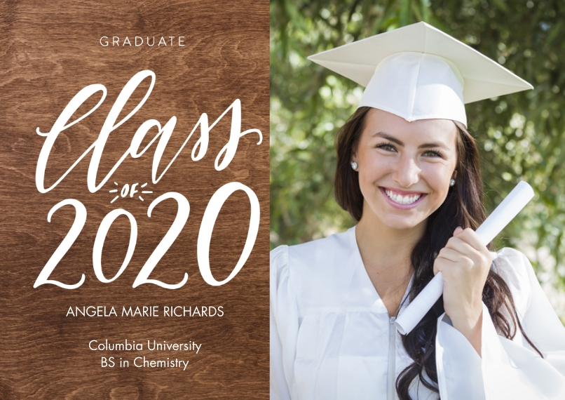 2020 Graduation Announcements 5x7 Cards, Premium Cardstock 120lb with Rounded Corners, Card & Stationery -2020 Shining Year by Tumbalina