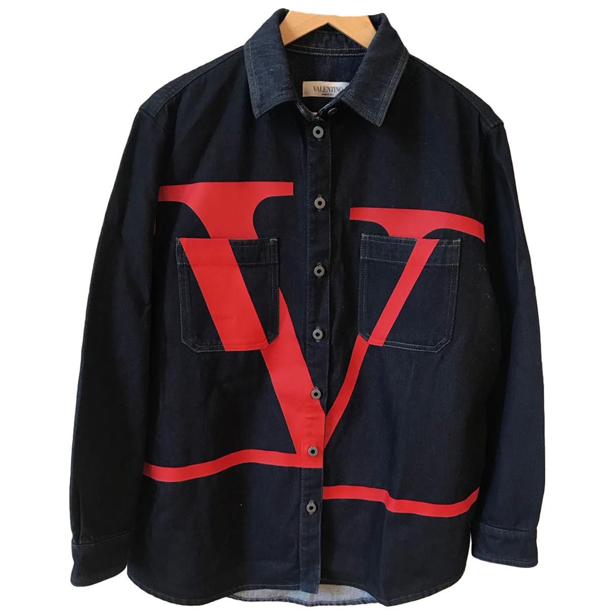 Valentino Garavani \N Top in  Blau Denim - Jeans