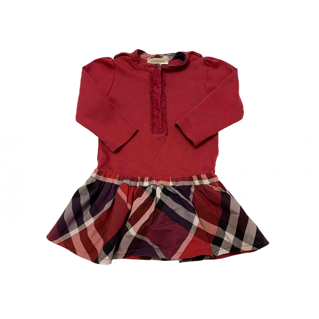 Burberry \N Red Cotton skirt for Kids 12 months - until 29 inches UK