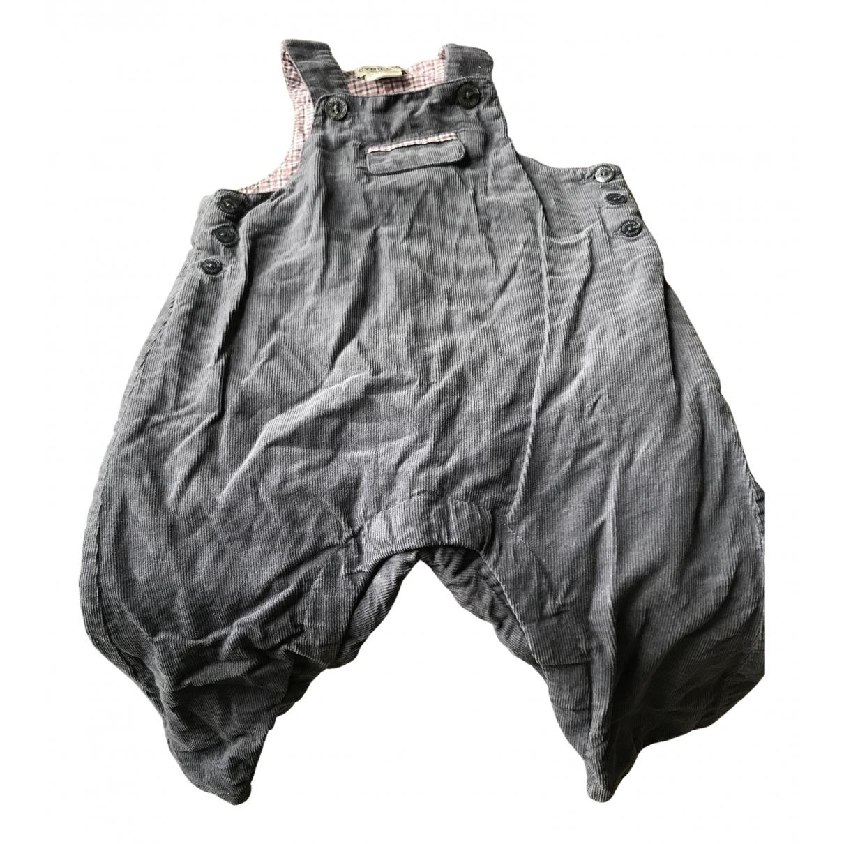 Cyrillus - Pantalon   pour enfant en velours - gris