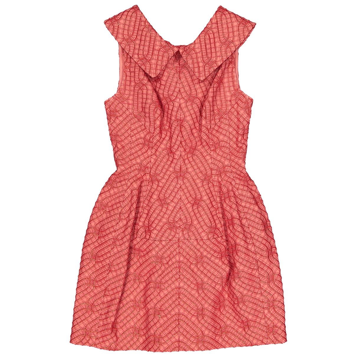Alaia \N Kleid in  Rot Baumwolle