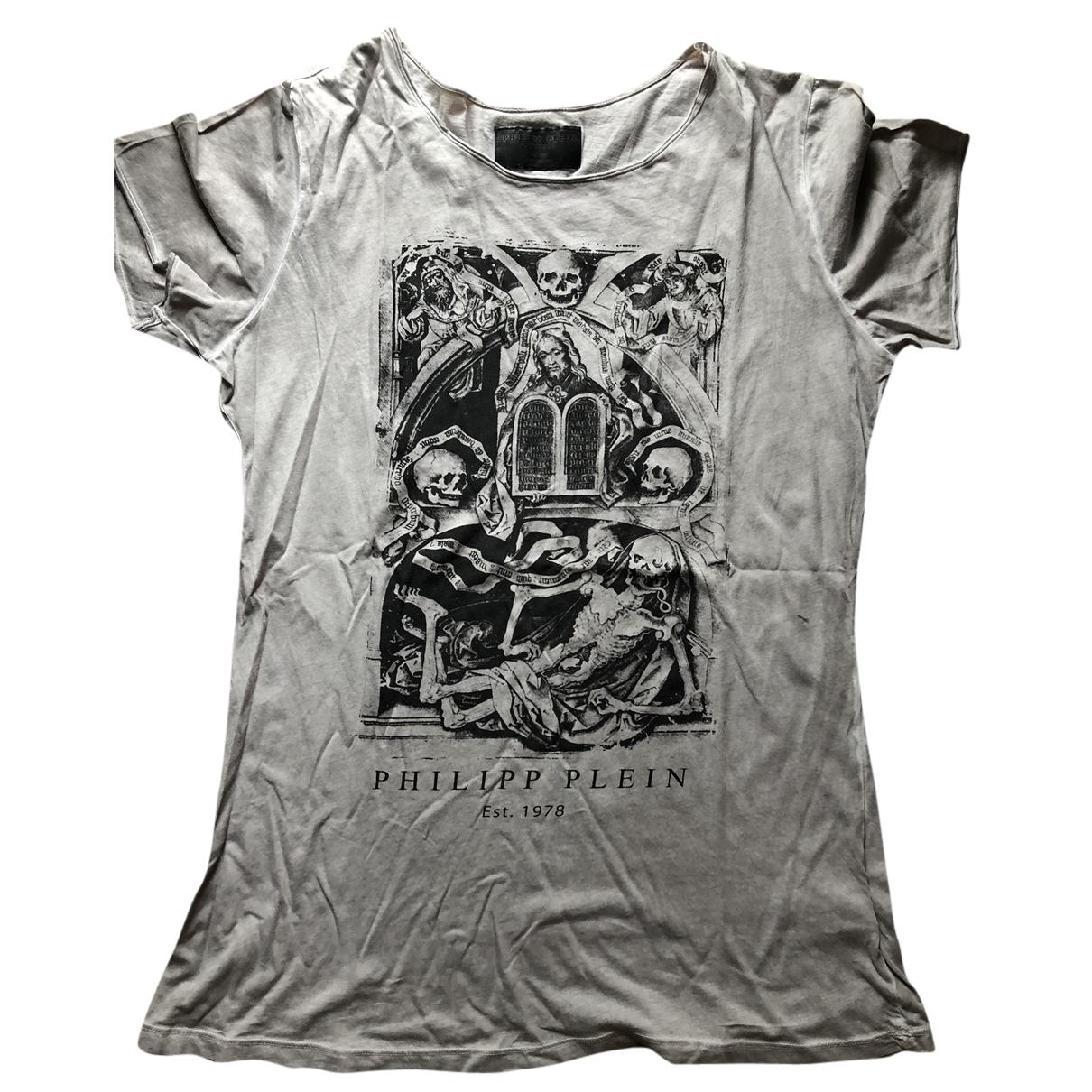 Philipp Plein N Beige Cotton T-shirts for Men L International