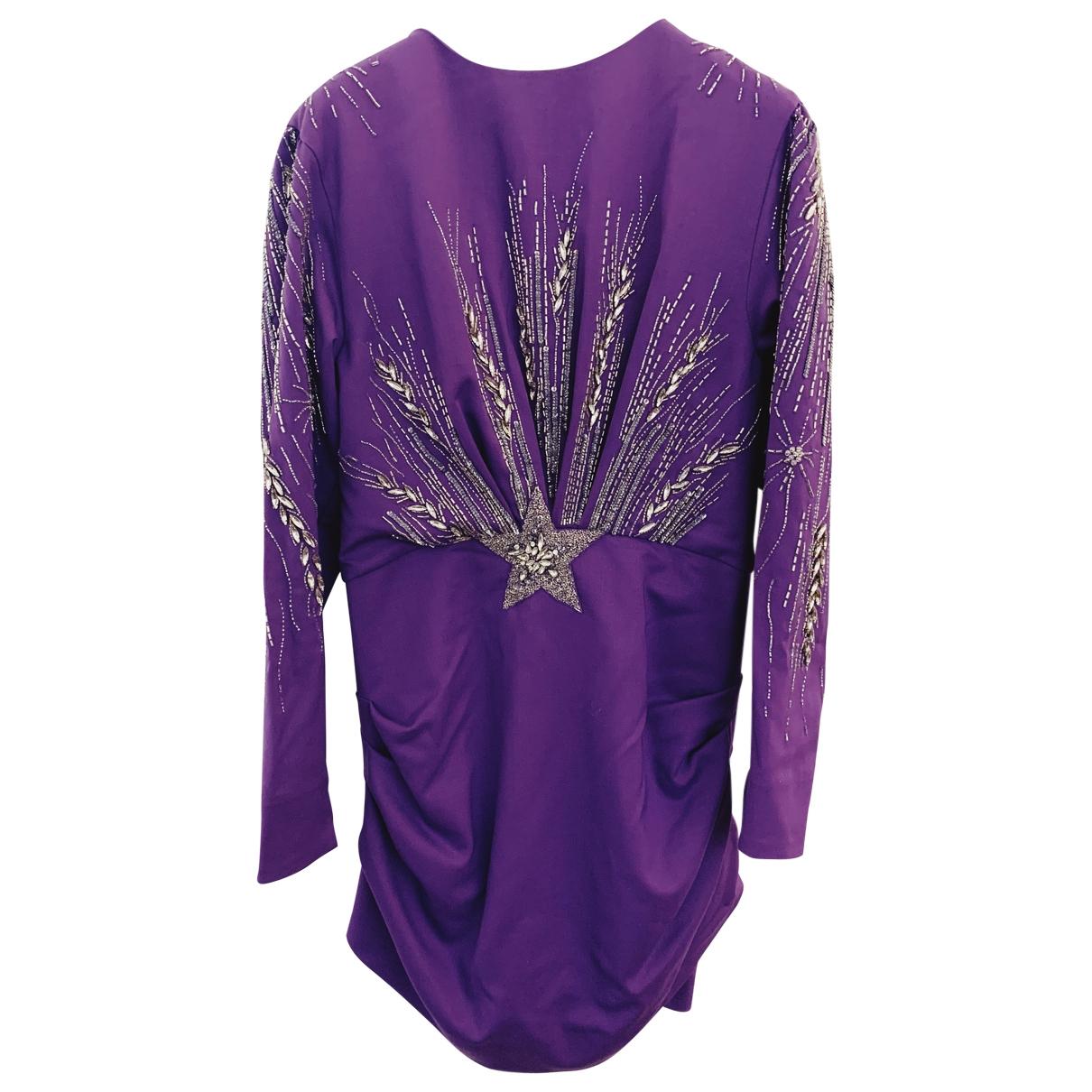Attico - Robe   pour femme en laine - violet