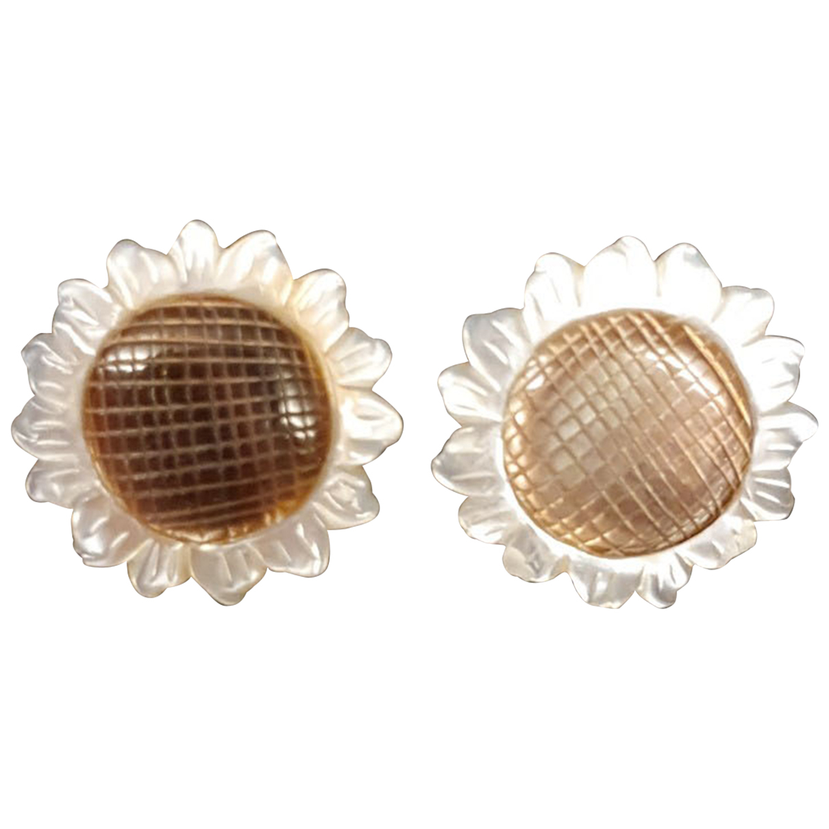 Non Signé / Unsigned Nacre Gold Yellow gold Earrings for Women N