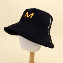 Toddler Kids Letter Embroidery Bucket Hat