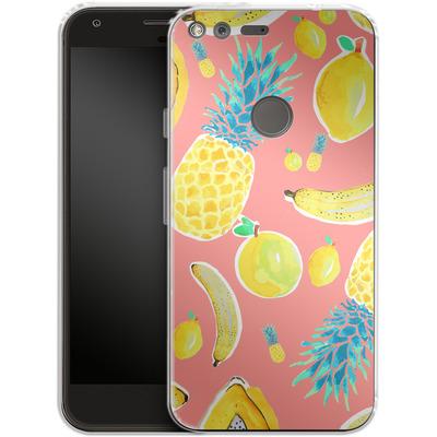 Google Pixel Silikon Handyhuelle - Fruit Love von Mukta Lata Barua