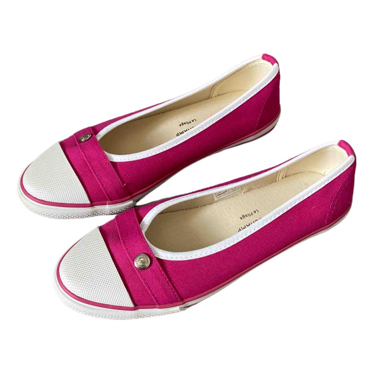 Longchamp \N Ballerinas in  Rosa Leinen