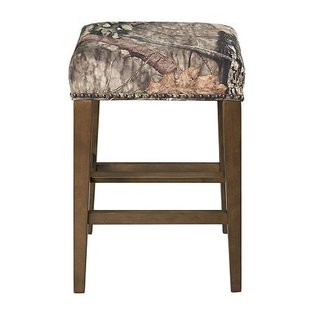 Mossy Backless Barstool, One Size , Brown
