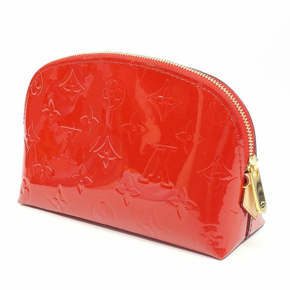Louis Vuitton - Petite maroquinerie   pour femme en cuir verni - marron