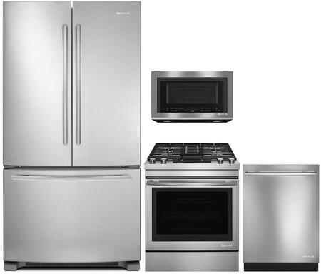 4 Piece Kitchen Appliance Package with JFC2089BEM 36
