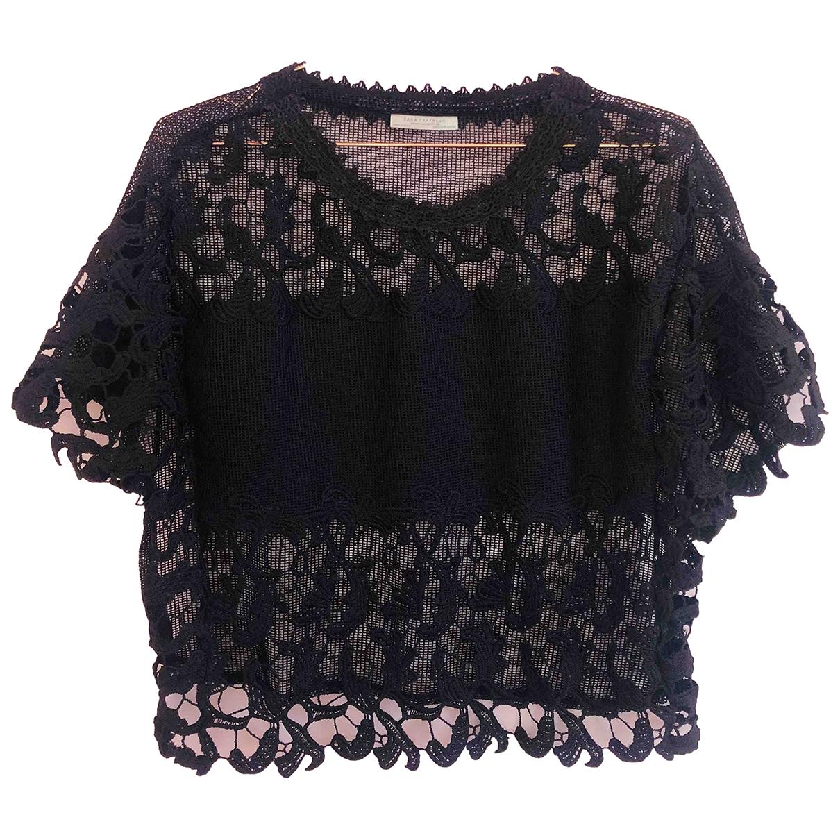 Zara \N Black  top for Women 36 FR