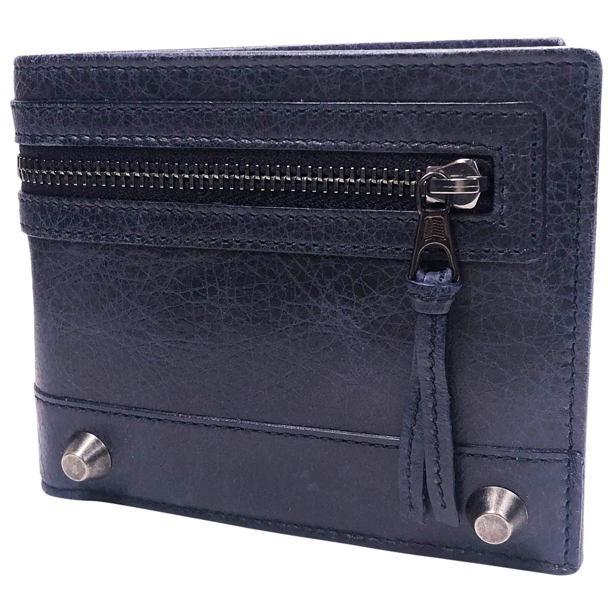 Balenciaga \N Blue Leather wallet for Women \N