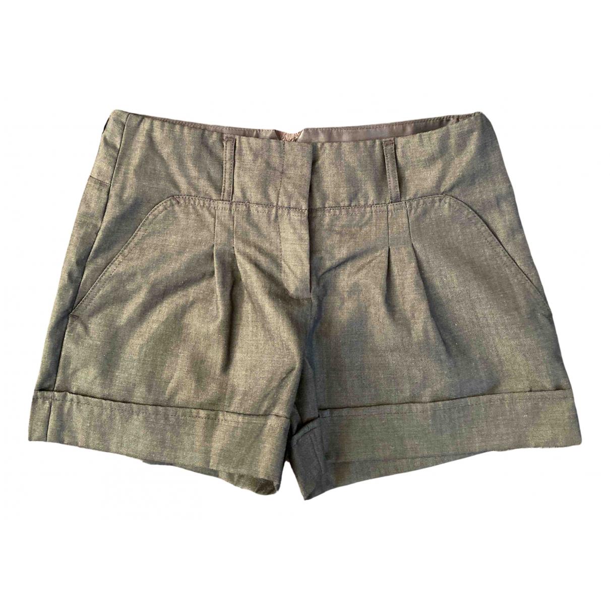 Bcbg Max Azria N Grey Wool Shorts for Women 2 US
