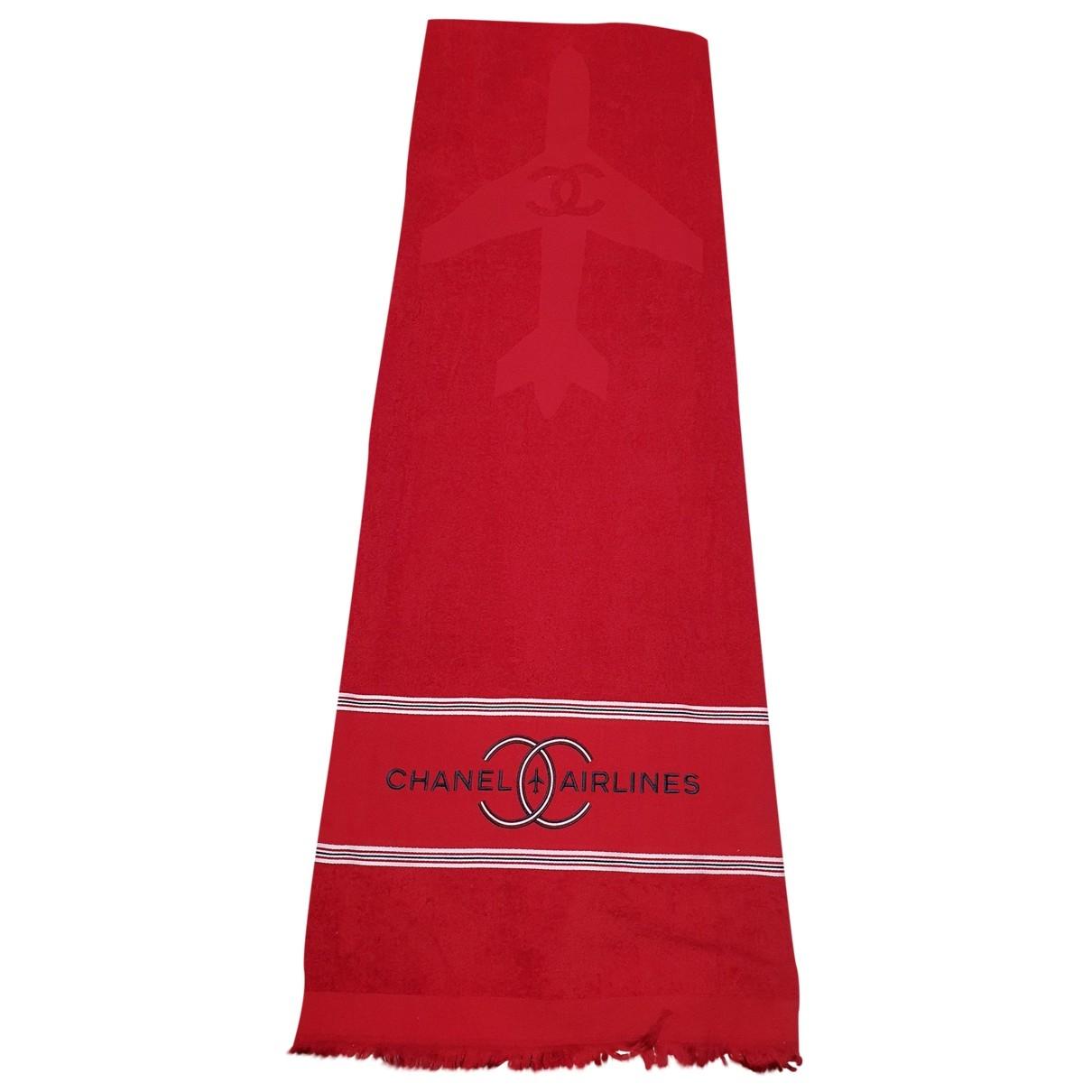 Chanel \N Heimtextilien in  Rot Baumwolle