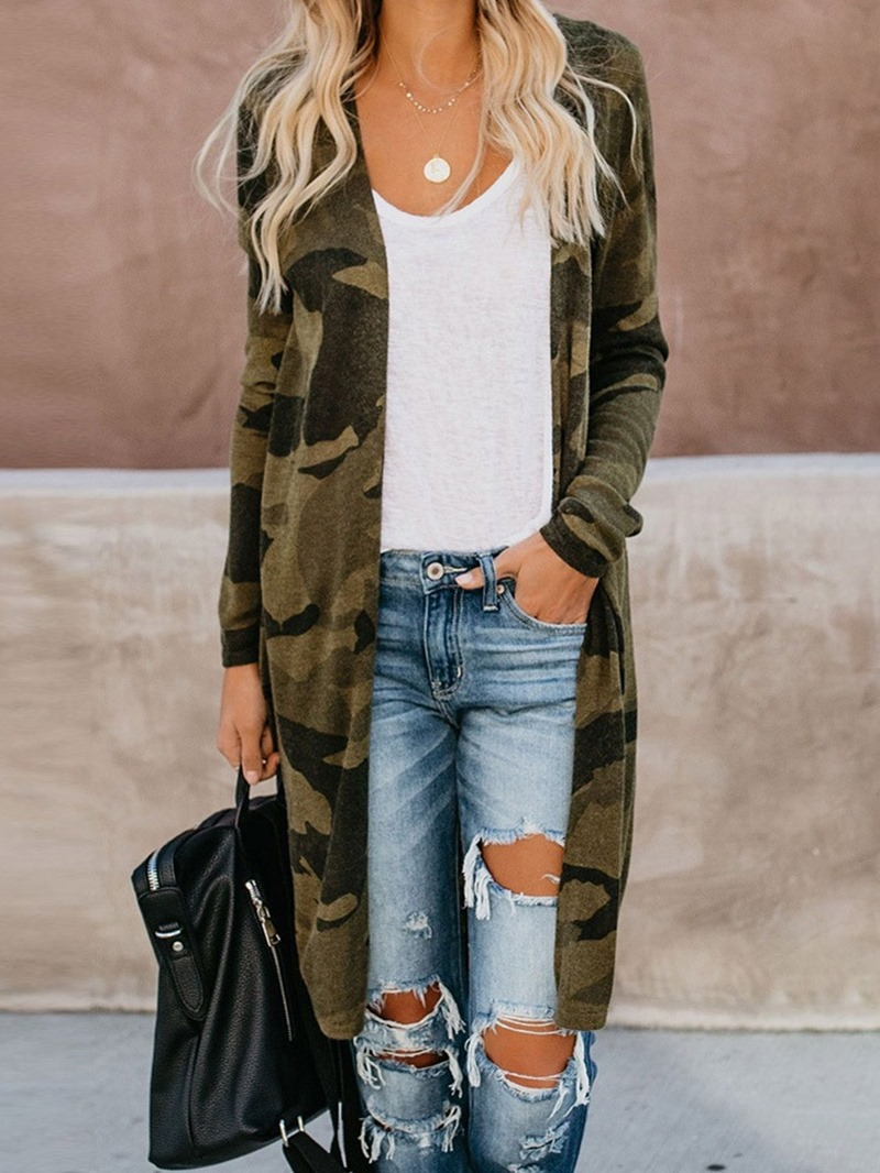 Ericdress Mid-Length Patchwork Fall Slim Trench Coat