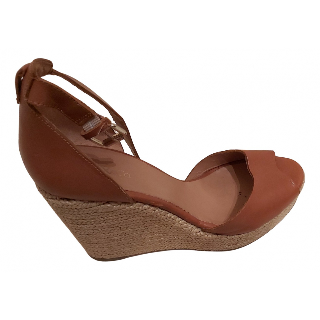 Max & Co \N Camel Fur Sandals for Women 39 EU