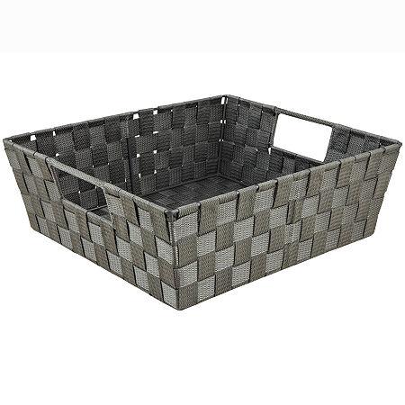 Simplify Woven Strap Shelf Tote, One Size , Gray