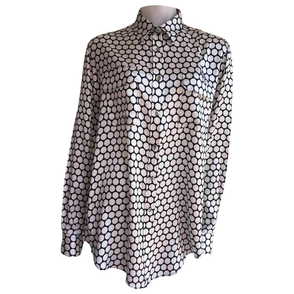 Non Signé / Unsigned \N Silk  top for Women 46 IT