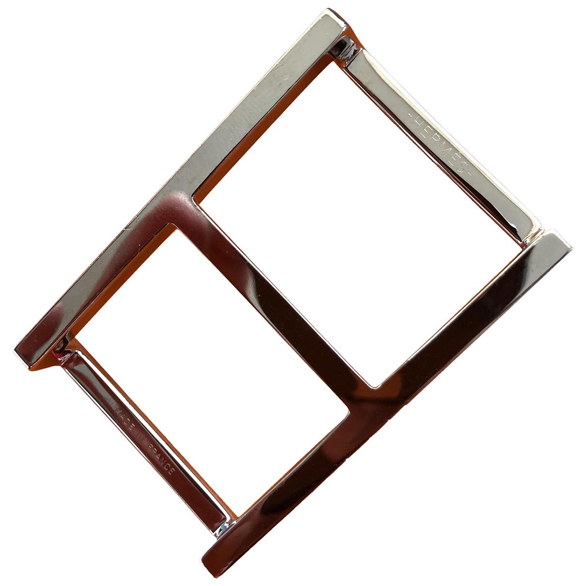 Hermès Boucle seule / Belt buckle Silver Metal belt for Men 85 cm